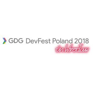 Logo of GDG DevFest Poland 2018 in Wrocław